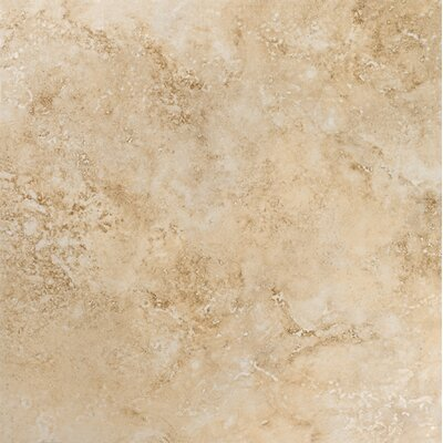 Gala Travertino 18 x 18 Ceramic Field Tile in Beige