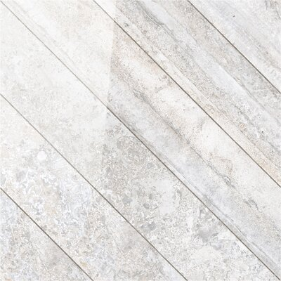 Vstone 19 x 19 Porcelain Field Tile in Silver Cross Semi Polished