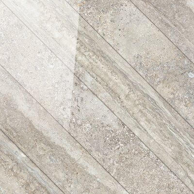 Vstone 19 x 19 Porcelain Field Tile in Nut Cross Semi Polished