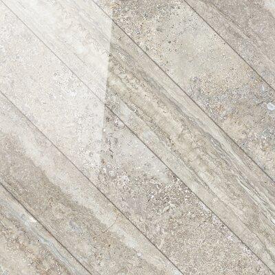 Vstone 19 x 19 Porcelain Field Tile in Nut Cross Semi Polished