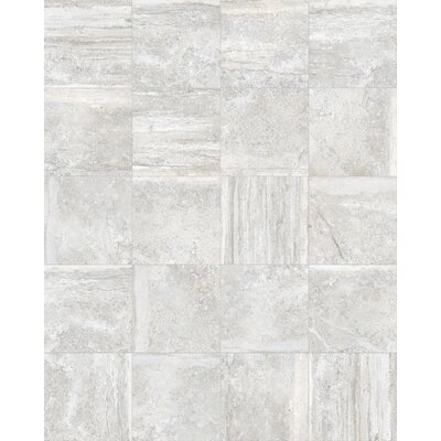 Vstone 19 x 19 Porcelain Field Tile in Silver Semi Polished