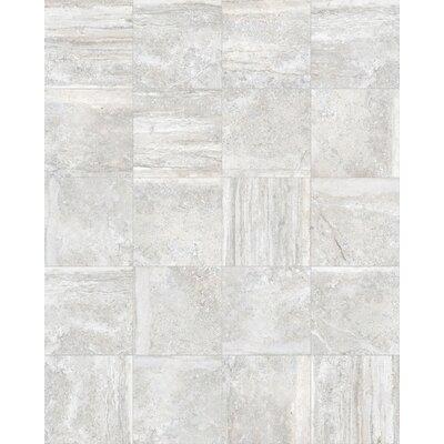 Vstone 19 x 19 Porcelain Field Tile in Silver Matte