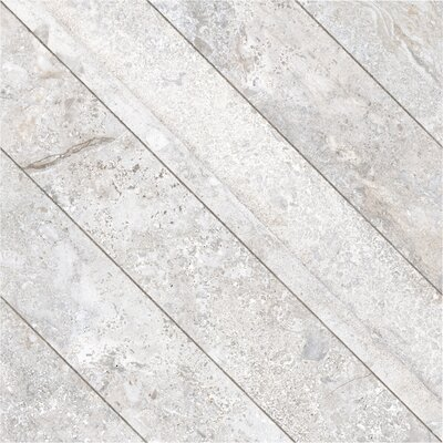 Vstone 19 x 19 Porcelain Field Tile in Silver Cross Matte