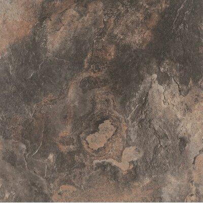 American Slate 20 x 20 Porcelain Wood Field Tile in Twilight Black