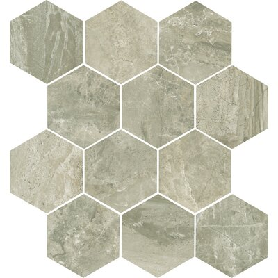 Anthology 14 x 15 Porcelain Mosaic Tile in Walnut
