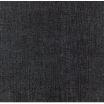 Canapa 12 x 24 Porcelain Fabric Look/Field Tile in Black