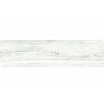 Deck 8 x 48 Porcelain Wood Look/Field Tile in White