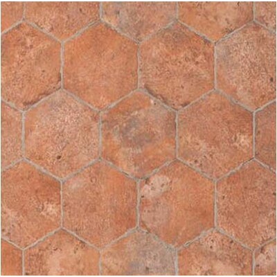 Chicago Brick Hexagon 9 x 11 Porcelain Mosaic Tile in Wrigley