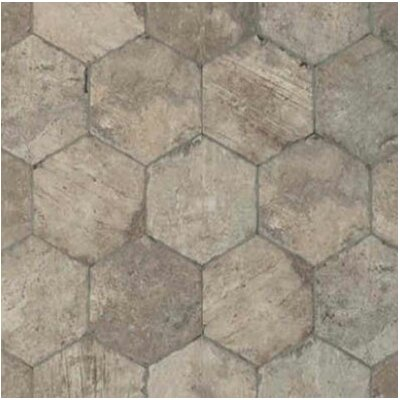 Chicago Brick Hexagon 9 x 11 Porcelain Field Tile in South Side