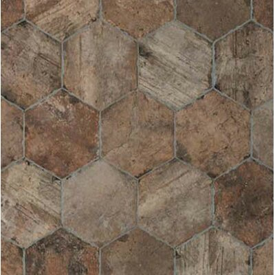 Chicago Brick Hexagon 9 x 11 Porcelain Mosaic Tile in State Street