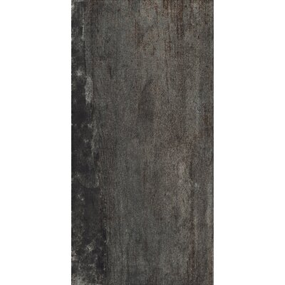 Blocks 12 x 24 Porcelain Field Tile in Dark Gray