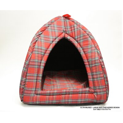 Checkered Cat Bed Size: Large - 17 L x 17 W