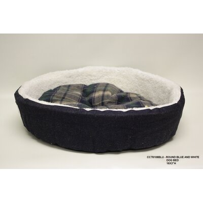 Round Dog Bed Color: Blue