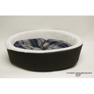 Round Dog Bed Color: Green