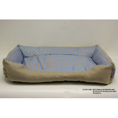 Rectangle Dot Dog Bed Color: Brown