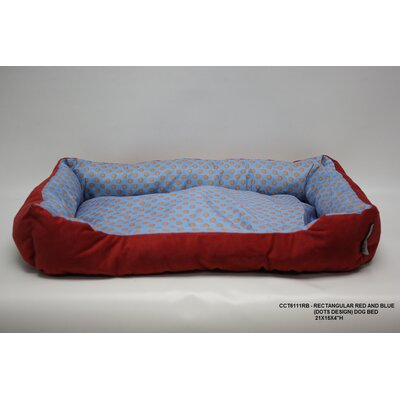 Rectangle Dot Dog Bed Color: Red