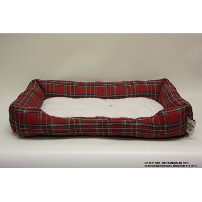 Rectangle Checkered Dog Bed