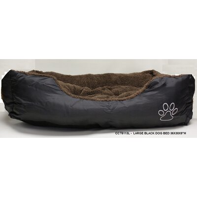 Rectangle Paw Dog Bed Size: Large - 30 L x 36 W