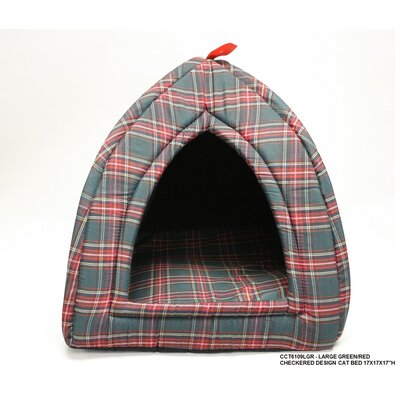 Checkered Cat Bed Size: Small - 15 L x 15 W
