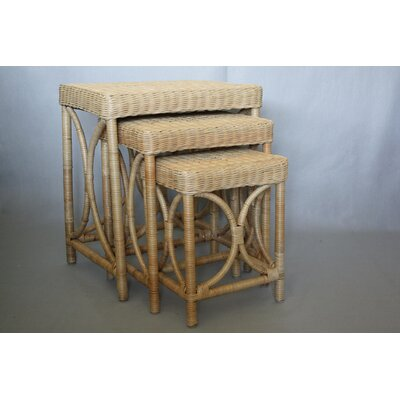 Svetlana Wicker 3 Piece Nesting Tables Color: Natural