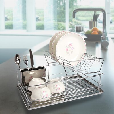 3 Piece 2-Tier Steel Dish Rack DD10086