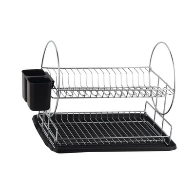 Deluxe 2-Tier Dish Rack Finish: Black