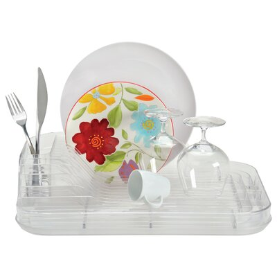 2 Piece Crystal Clear Dish Rack Set