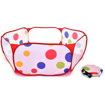 American Creative Team Hexagon Polka Dot Childrens Twist Playpen With Carry Tote And Safety Meshing For Child Play Tent