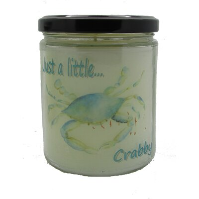 "Just a Little...Crabby"" Ocean Breeze Jar Candle QJCRABBYOB"