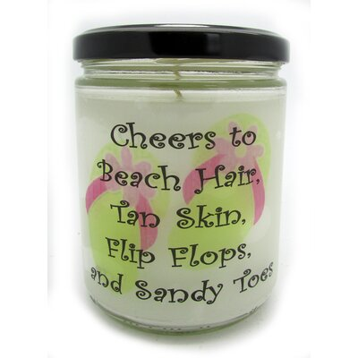"Cheers..."" Ocean Breeze Jar Candle QJFLIPFLOPSOB"