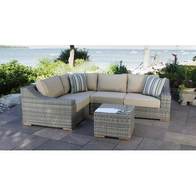 Corsica 5 Piece Seating Group with Cushions