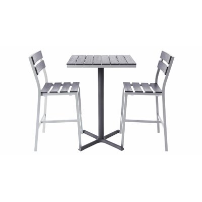 Milloy 2-Top 3 Piece Bar Table Set