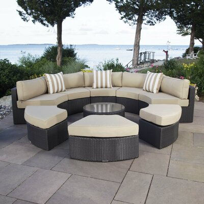 Santorini 5 Piece Seating Group with Cushions