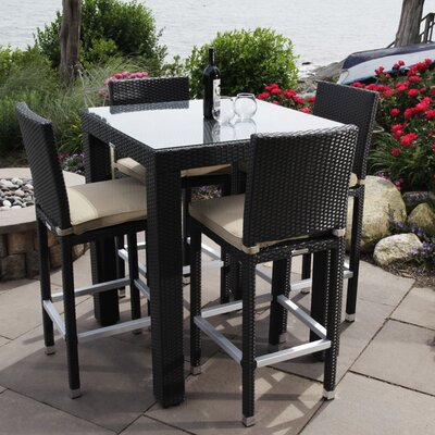 Ibiza 5 Piece Bistro Dining Set