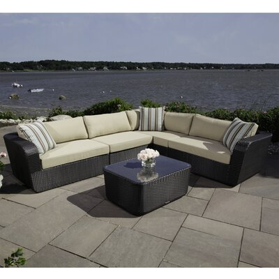 Malta 5 Piece Sectional Seating Group with Cushions