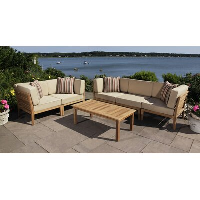 Bali 6 Piece Sofa and Loveseat Set with Cushions
