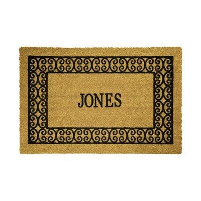 DeCoir Personalized Charleston Border Doormat