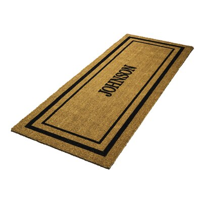 Personalized Classic Border Double Door Doormat
