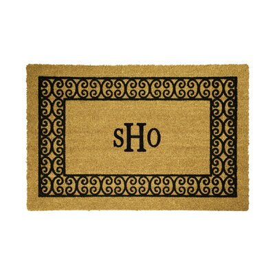 DeCoir Personalized Charleston Border Doormat