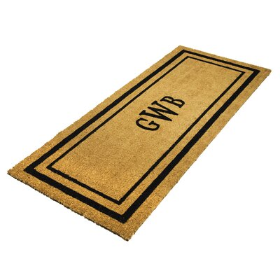DeCoir Personalized Monogram Classic Border Double Door Doormat