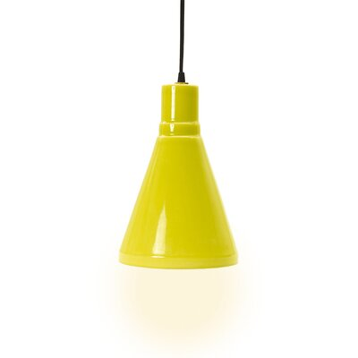 Linke 1-Light Mini Pendant Base Color: Lime