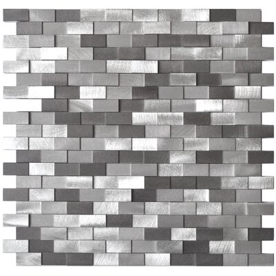 Aluminum Mosaic Tile in Grey