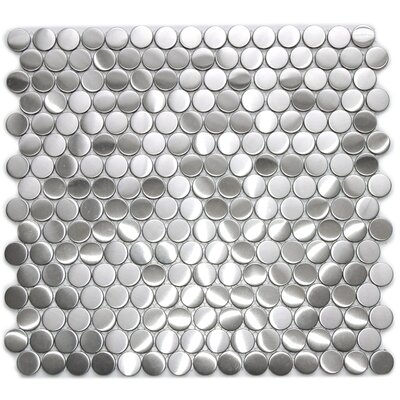 Metal Mosaic Tile in Silver