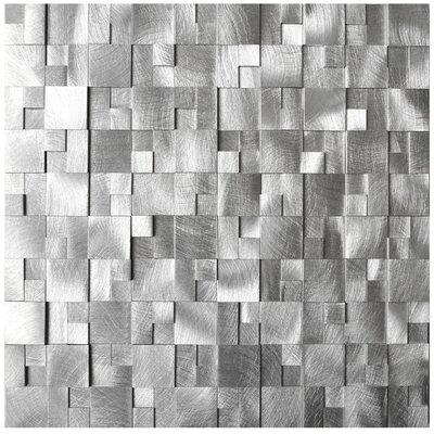 Raised Cobblestone Pattern Aluminum Mosaic Tile
