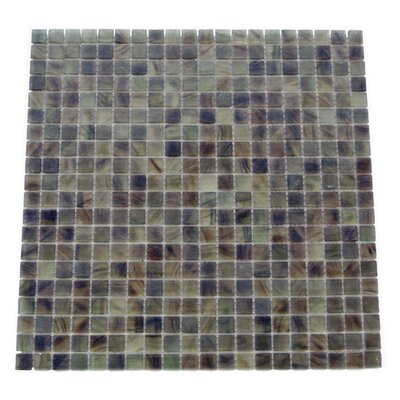 Amber 0.63 x 0.63 Glass Mosaic Tile in Glazed Dark gray