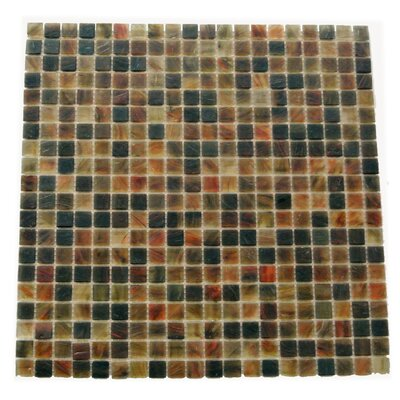 Amber 0.63 x 0.63 Glass Mosaic Tile in Brown Mix