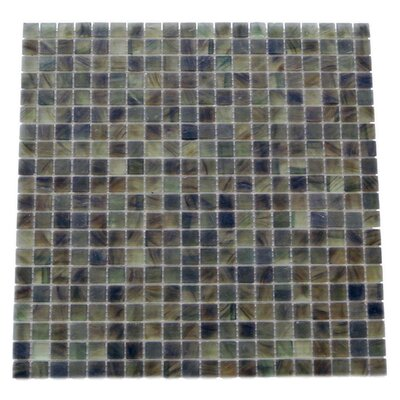 Amber 0.63 x 0.63 Glass Mosaic Tile in Frosted Dark gray