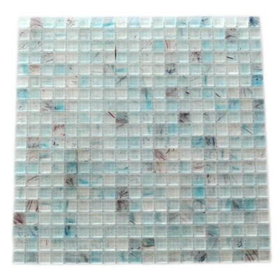 Amber 0.63 x 0.63 Glass Mosaic Tile in Sky Blue