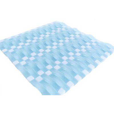 Wave 1 x 3 Glass Mosaic Tile in Matte Light Blue
