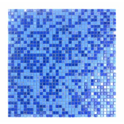 Galaxy Straight 0.31 x 0.31 Glass Mosaic Tile in Glazed Blue